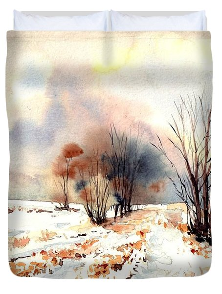 Village Scene Iv Duvet Cover