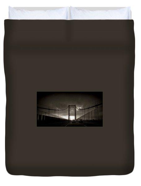 Vincent Thomas Bridge Duvet Cover by Joseph Hollingsworth