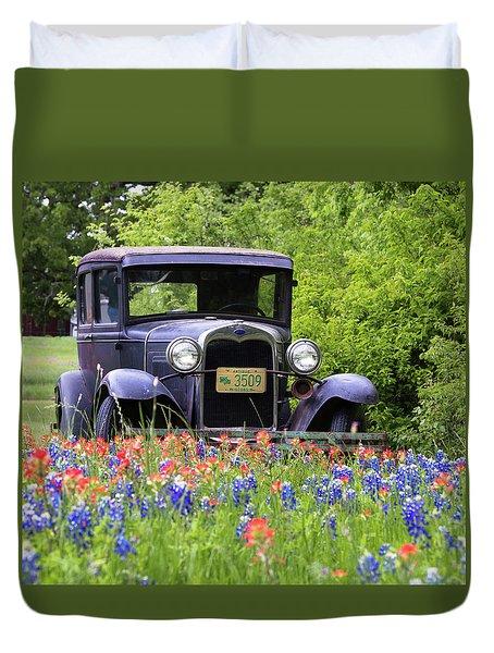 Vintage Ford Automobile Duvet Cover