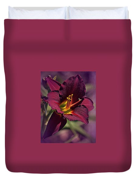 Vintage Day Lily  Duvet Cover
