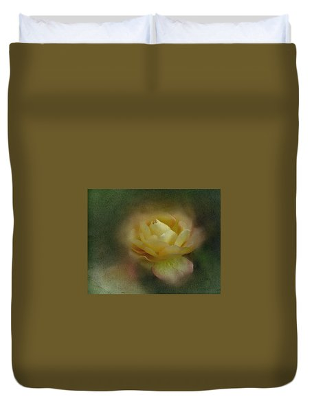 Duvet Cover featuring the photograph Vintage October Rose  by Richard Cummings