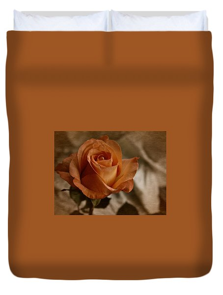 Duvet Cover featuring the photograph Vintage Orange Rose by Richard Cummings