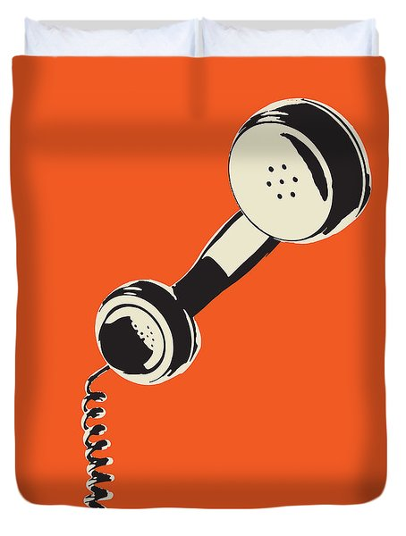Vintage Telephone Receiver Duvet Cover