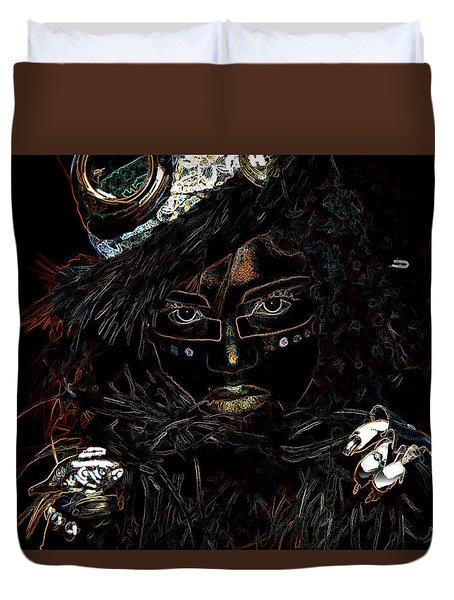 Voodoo Woman Duvet Cover by Hugh Smith