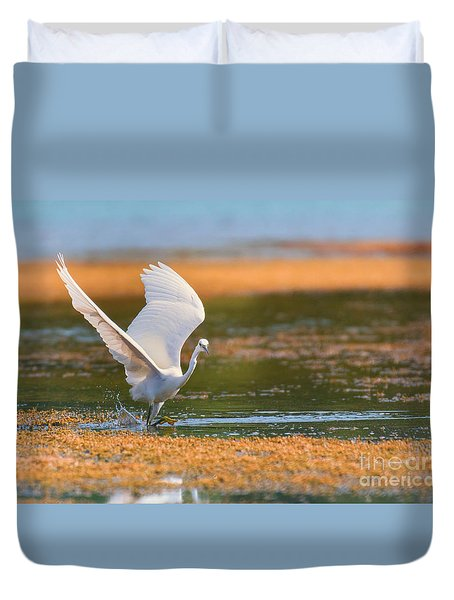 Wading Duvet Cover by Jivko Nakev