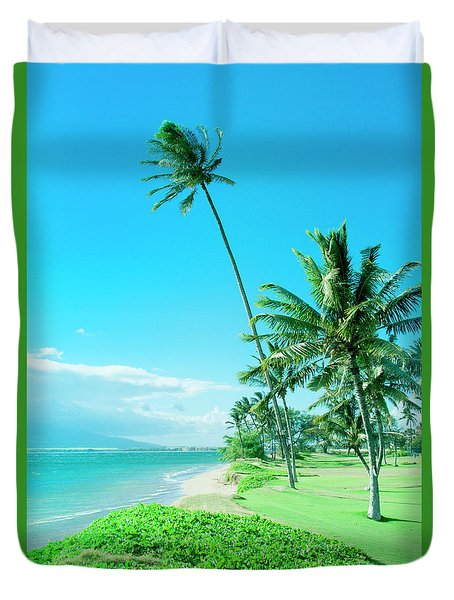 Duvet Cover featuring the photograph Waipuilani Beach Kihei Maui Hawaii by Sharon Mau