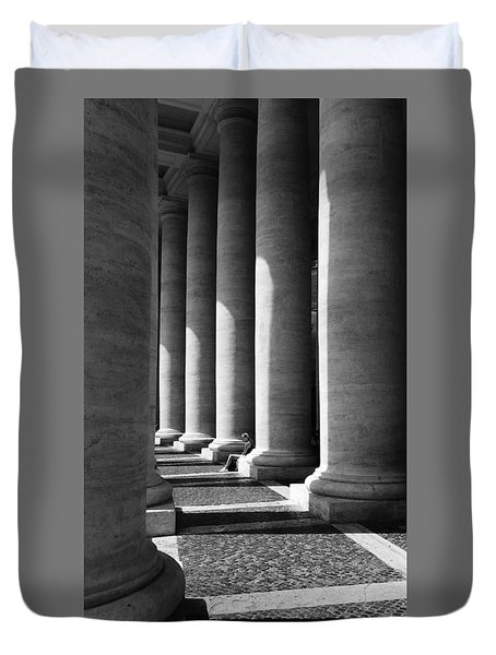 Waiting At St Peters Duvet Cover