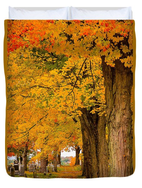Duvet Cover featuring the photograph Walk The Path To See Where It Goes by Jeff Folger