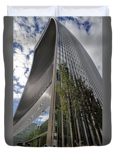Duvet Cover featuring the photograph Walkie Talkie Skyscraper London by Shirley Mitchell