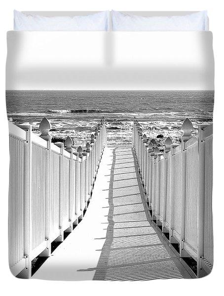 Walkway To Beach Duvet Cover