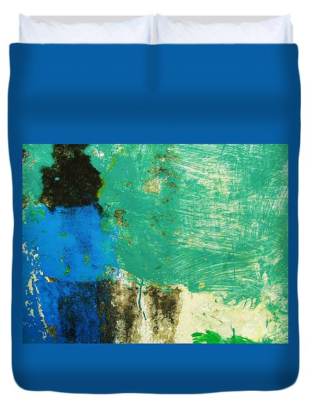 Wall Abstract 70 Duvet Cover by Maria Huntley