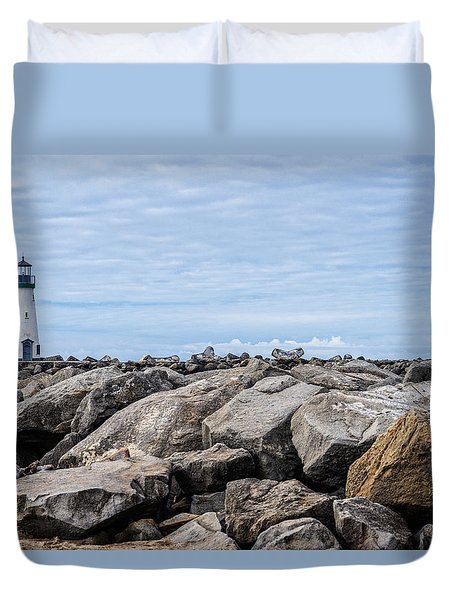 Walton Lighthouse Duvet Cover by James Hammond
