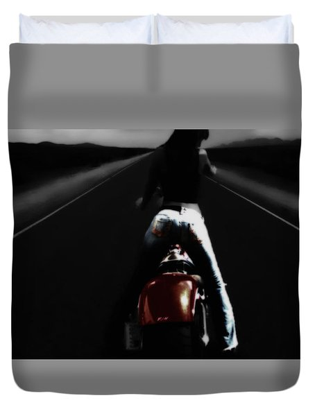Duvet Cover featuring the digital art Wanna Ride by Brian Reaves