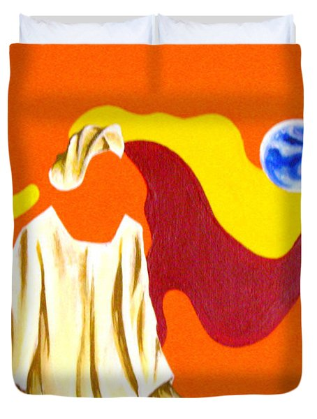 Warm Face Duvet Cover
