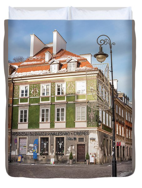 Duvet Cover featuring the photograph Warsaw, Poland by Juli Scalzi