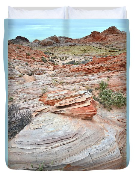 Duvet Cover featuring the photograph Wash 3 In Valley Of Fire by Ray Mathis