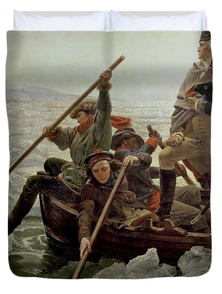 Washington Crossing The Delaware River Duvet Cover by Emanuel Gottlieb Leutze