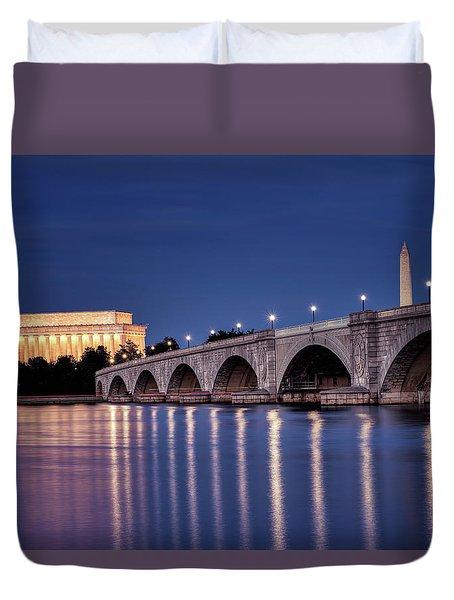 Washington Dc At Night Duvet Cover