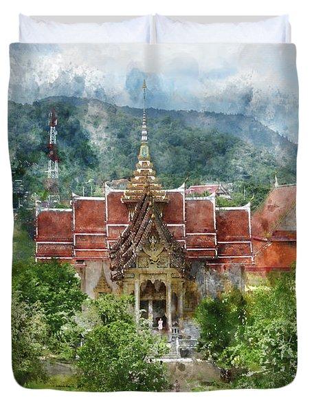 Wat Chalong In Phuket Thailand Duvet Cover