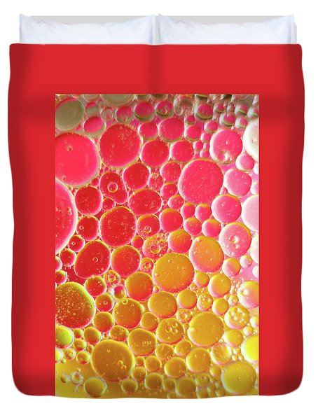 Water And Oil Bubbles Duvet Cover