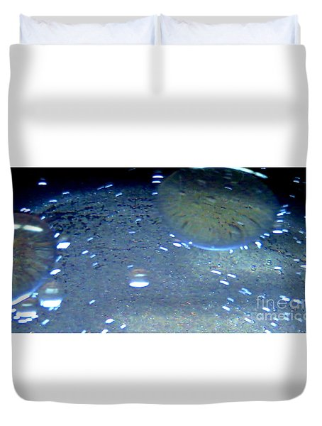 Water Drops Duvet Cover by Tim Townsend