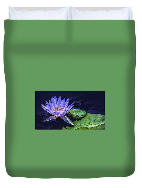 Water Lily In Lavender Duvet Cover