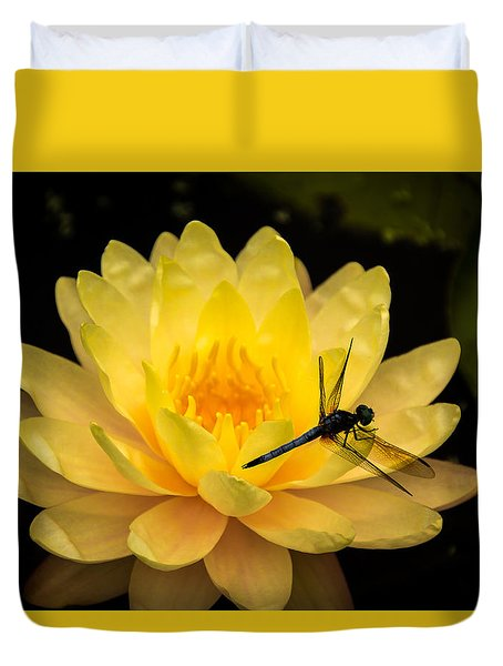 Duvet Cover featuring the photograph Water Lily by Jay Stockhaus