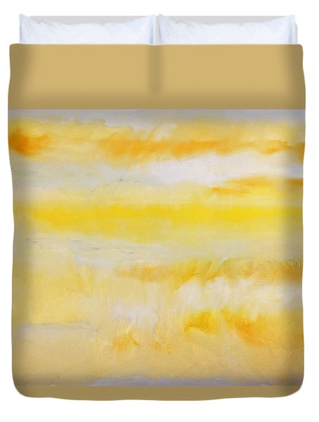 Duvet Cover featuring the painting Water Lily Pond by Charles Stuart
