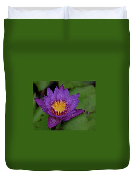 Water Lily Duvet Cover by Ronda Ryan