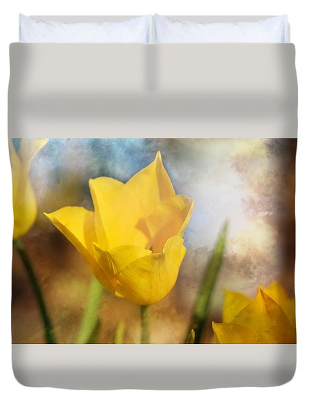 Water Lily Tulip Flower Duvet Cover