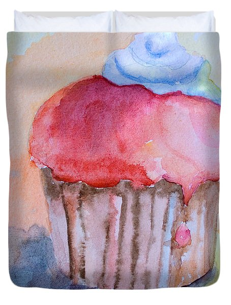 Watercolor Illustration Of Cake  Duvet Cover