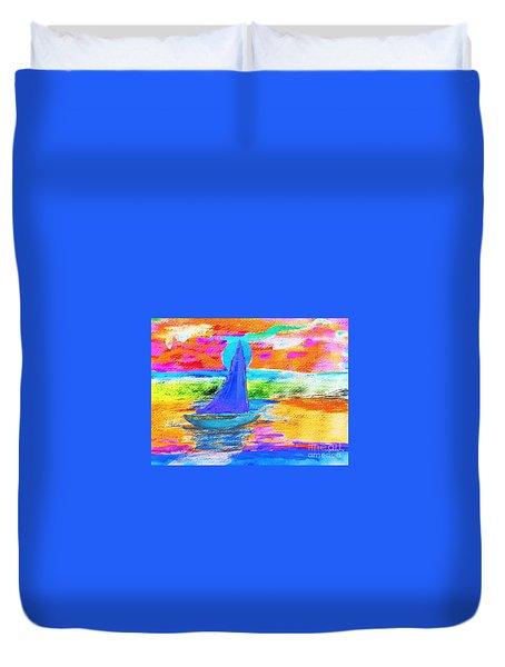 Watercolor Sailing Duvet Cover