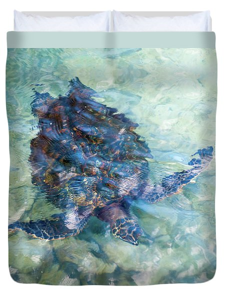 Watercolor Turtle Duvet Cover