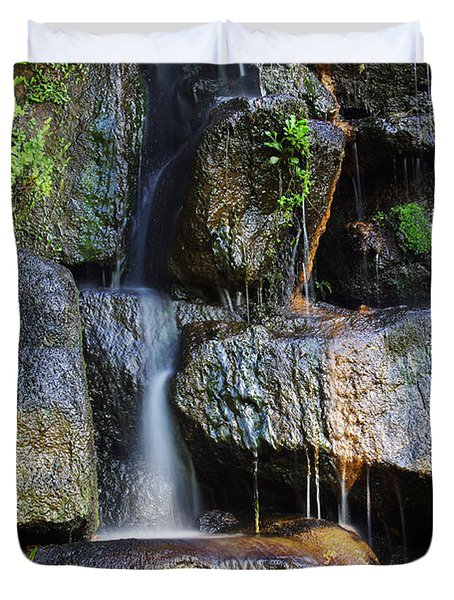 Waterfall Duvet Cover by Carlos Caetano