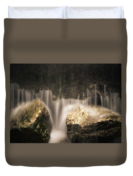 Waterfall Detail Duvet Cover by Scott Meyer