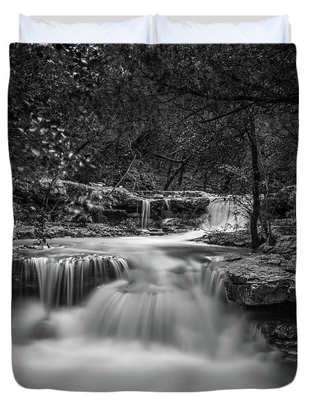 Waterfall In Austin Texas Duvet Cover