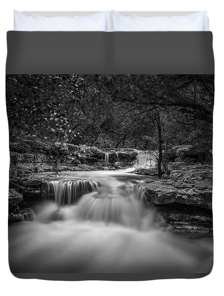 Waterfall In Austin Texas Duvet Cover