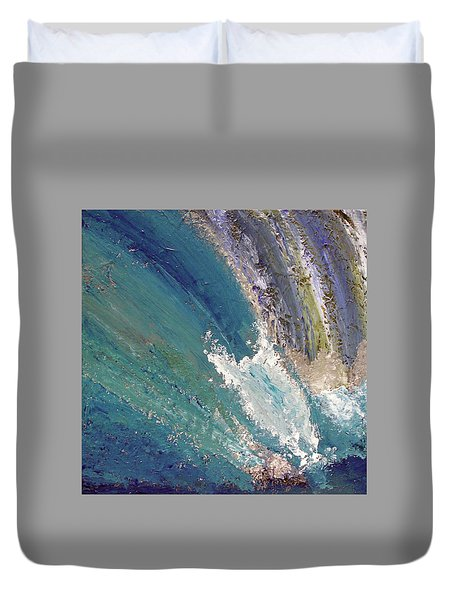 Waterfalls 2 Duvet Cover by Karen Nicholson