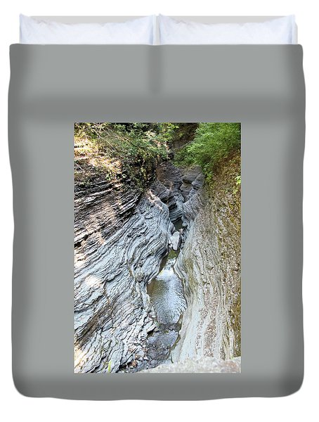 Watkins Glen New York Duvet Cover