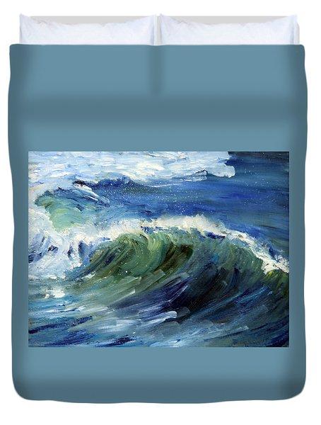 Wave Action Duvet Cover by Michael Helfen