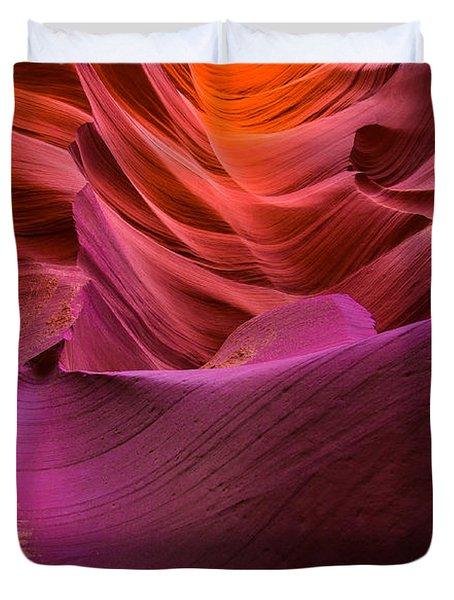 Waves-lower Antelope Canyon Duvet Cover