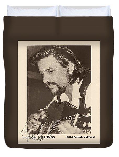 Waylon Jennings 1971 Signed Duvet Cover