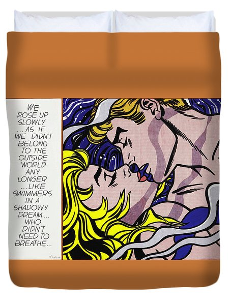 We Rose Up Slowly - Roy Lichtenstein Duvet Cover