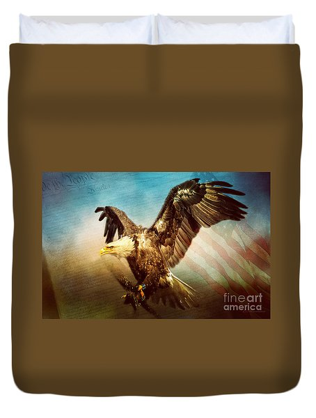 We The People Duvet Cover by Eleanor Abramson