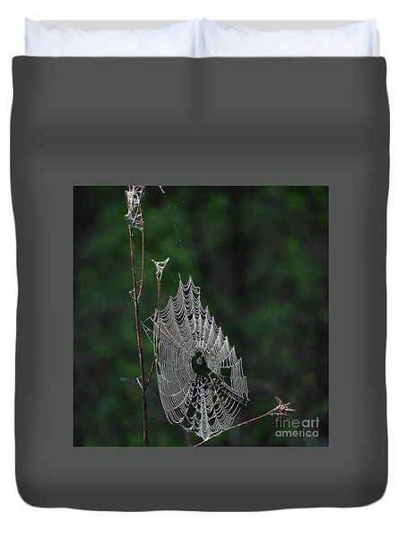 Duvet Cover featuring the photograph Webs We Weave by Skip Willits