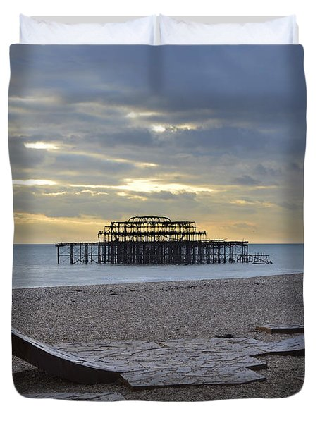 West Pier Brighton Duvet Cover