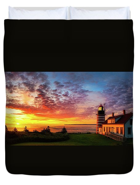 West Quoddy Head Light Duvet Cover by Robert Clifford