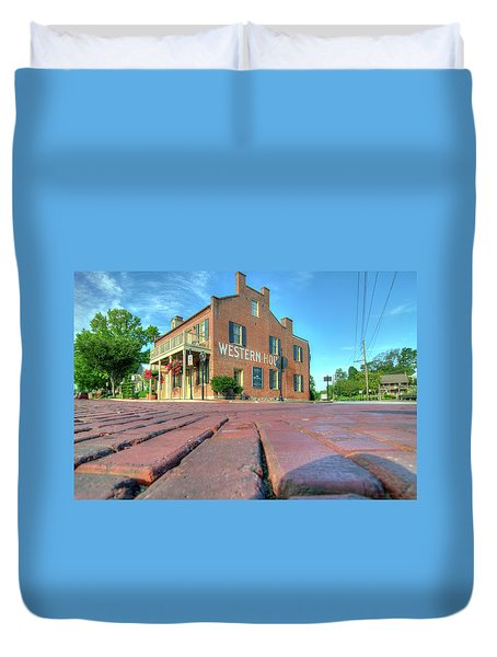 Western House Duvet Cover