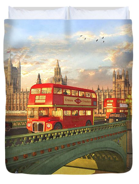 Westminster Bridge Duvet Cover by Dominic Davison