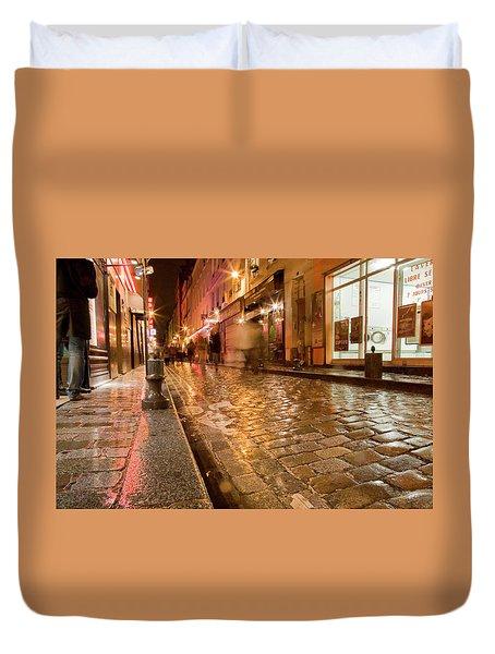 Wet Paris Street Duvet Cover by Matthew Bamberg